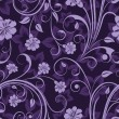 Stock Vector: Seamless floral purple flower vector wallpaper pattern.