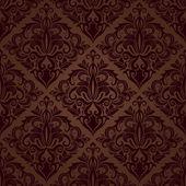 Бесшовные цветочные векторных коричневые Обои шаблон. — Cтоковый вектор