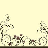 Abstract floral vintage background with copy space. — Stock Vector