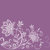 Abstract floral vintage purple background with copy space. — Stock vektor