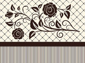 Abstract brown rose shape vintage background. — 图库矢量图片