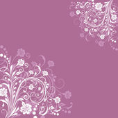 Abstract floral vintage purple background with copy space. — Stock Vector