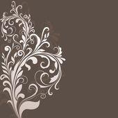 Kwiatowy wzór brązowy wektor tle miejsce. — Wektor stockowy