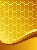 Abstract yellow bee comb background — Vector de stock