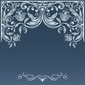 Winter ornament template. — Vector de stock