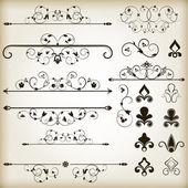 Ročník kaligrafické prvky — Stock vektor