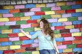 Mädchen, farben — Stockfoto
