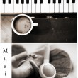 Coffee and music — Stock Photo