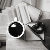 Drinking coffee — Stock Photo