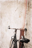 Bicycle, artwork in grunge style — Stock Photo