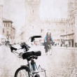 Image in grunge style, bicycle — Stock Photo #27010913
