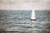 Image in grunge style, sea — Stock Photo