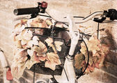 Artwork in grunge style, bicycle — Foto Stock