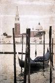 Artwork in retro style, Venice — Stock Photo