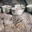 Stock Photo: Artwork in grunge style, candles