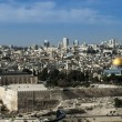 Panorama from Mount of Olives with the Dome of the rock and the old city wa — Stock Photo