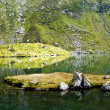 Stock Photo: Glacial lake in Fagaras
