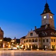 Brasov Council Square at twilight - Transylvania, Romania — Stock Photo #14413971