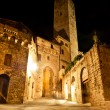 Streets of San Gimignano, in the night — Stock Photo