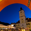 Brasov Council Square at twilight — Stock Photo #14414159