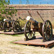 Old artillery cannons — Stock Photo