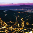 Brasov-night view — Stockfoto