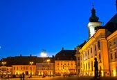 Sibiu - night view — Stock Photo