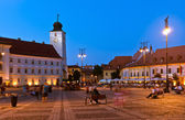 Sibiu - night view — Stock Photo