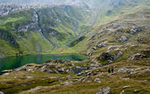 Hiking in Fagaras mountains — Foto Stock