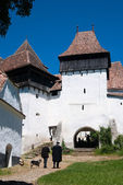 Viscri, fortified church in Romania — Stock Photo