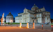 Cathedral of Pisa-night view — Stock Photo