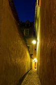 Rope Street, Brasov, Romania - night view — Stock Photo