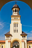 Belltower of Archiepiscopal Cathedral, Alba Iulia — Stock Photo