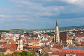 Aeral view over Cluj-Napoca, Romania — Stock Photo