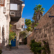 A narrow street in historic Jaffa , Israel — Stock Photo