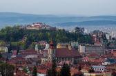 Aerial view of Brasov city centre — Stock Photo