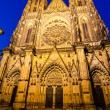 Stock Photo: Night-view of St. Vitus Cathedral in Prague (Czech Republic)