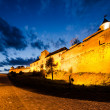 Citadel of Brasov in night, landmark of Brasov — Stock Photo #25320489