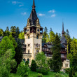 Side view of Peles castle — Stock Photo