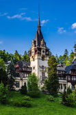 Main tower of the Peles castle — Stock Photo