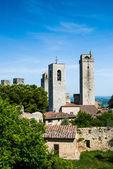 Towers of San Gimignano, Toscana landmark — Stock Photo