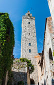 Tower in San Gimignano, Toscana landmark — Stock Photo