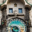 Astronomical clock on Old Town Hall in Prague, Czech — 图库照片