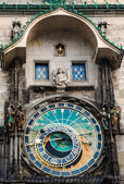 Astronomical clock on Old Town Hall in Prague, Czech — Stock Photo