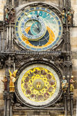 Tawn hall Orloj in Praha, close-up — Stock Photo