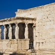 Caryatids Erechteion Acropolis Athens Greece — Stock Photo