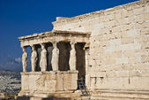 Caryatids Erechteion Acropolis Athens Greece — Stock Photo