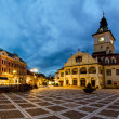 Brasov Council Square at twilight — Stock Photo #27673937