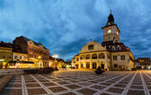 Brasov Council Square at twilight — Stock Photo