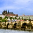 View over the Vltava of Charles Bridge — Stock Photo